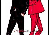 drawing couple fashion