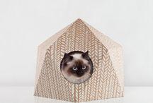 Niche en carton pour chat - CAT CUBE