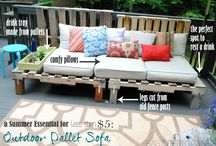 Outdoor projects with pallets
