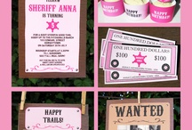 Cowgirl Party / Cowgirl | Birthday | Party | Ideas | Printables | Tips | Cake | Cupcakes | Invitation | Decorations | Favors | Games | Food | SIMONEmadeit.com