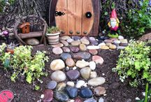 Fairy homes, garden whimsy, funky sculpture