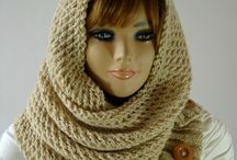 Knit and Crochet Hoods / Knitting and Crochet Hood scarves, hooded scarves, knitting hood patterns, crochet hood patterns, crafts, hood bear hats, children, toddler knitting hoods, knit hood, knit hooded scarf