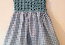 Детские платья комбинированные