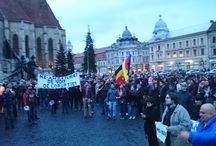 Protest anti imunitate parlamentară la Cluj / Ne-am strâns câteva sute de români pentru a protesta împotriva imunității parlamentarilor în fața legii în urma votului dat în Senatul României in data de 25 martie 2015.