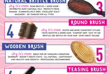 Best Hair Brush / Hair brush DIY tips, tricks and recommendations for all hair types.