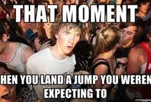 Skateboard Humor  / Sometimes you need to laugh. #skatertrainer #skateboard #skatelife