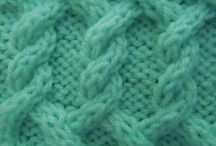 cable scarf for bunica