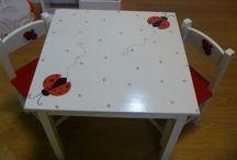 decorar mesas y sillas para niñ@s