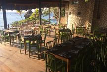 NAVY111 BY EMECO AT ROCKHOUSE NEGRIL  / NAVY111 CHAIRS BY EMECO AT ROCKHOUSE NEGRIL