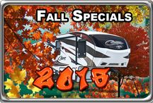 Fall Specials 2016 / All our Specials and Discounted Travel Trailers, Fifth Wheels, and Much Much More