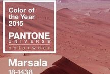 """2015 Color of the Year Marsala / """"This hearty, yet stylish tone is universally appealing and translates easily to fashion, beauty, industrial design, home furnishings and interiors."""" Leatrice Eiseman Executive Director, Pantone Color Institute®"""