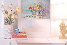 shabby rose painting