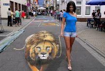 street art 3D, paper art, instalation / street art 3D, paper art, instalation