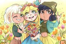 Star, Jackie y Janna