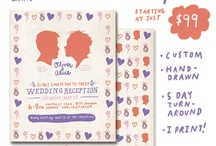 WEDDING ANNOUNCEMENTS I'VE MADE / by Jess Smiley