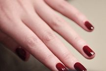 Nails ♡ red bordo