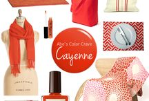 Color Crave: Cayenne / What's better than spicing up your look to match summer's rising temperatures? Certain orange-y red hues are universally flattering so try and work them into your wardrobe and beauty routine whenever possible. #AMstyle / by Abe's Market