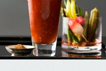 Blood Mary Bar / We couldn't think of a better way to kick off your Super Sunday! What do put in your Bloody Mary?