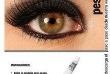 Pestañas, eyelashes GRIMAS / Pestañas postizas para usar a diario, o en ocasiones especiales, para teatro, cine, tv, espectáculos, disfraces, caracterización etc...