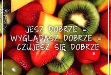 """Zdrowa żywność / Nasze motto to """"Jesz dobrze = wyglądasz dobrze = czujesz się dobrze"""".  Dlatego proponujemy Wam zawsze zdrową i ekologiczną żywność."""