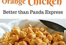 Orange chicken recipes.
