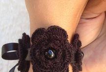 crochet cuffs and bracelets