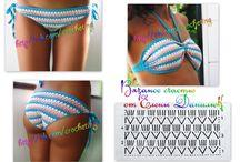 Horgolt bikini