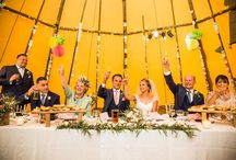 Emily & Ian's beautiful garden tipi reception / Tipi wedding by worldinspiredtents.co.uk, images by http://www.richardmurgatroyd.com