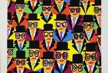 Hariton Pushwagner er en norsk maler inspirert av antikapitalistisk popkunst.