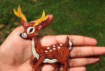 quilled deer