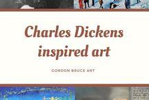 Charles Dickens inspired art