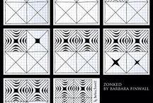 Zentangle čtverečky