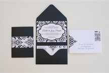 Black and White Wedding Paper Inspirations / Examples of black and white and black and ivory wedding invitations / by Gourmet Invitations