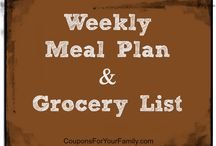 Meal Planning / Use our easy Meal Plan based on items you can find on sale complete with Recipe Ideas and Grocery List!