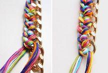 Collares / Tela y cadena