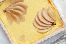 Crosta con crema di ricotta e pere caramellate