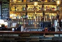 bottle whisky in bar