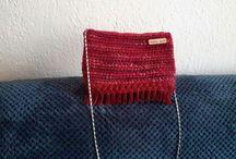 knitted woolen ladies bag
