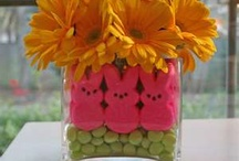 Easter Party Ideas + Recipes / Easter Party Ideas -- Easter cakes, Easter dinner, decorations, party foods, recipes and favors