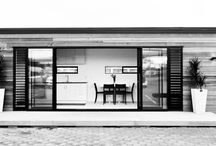 Small spaces / Container houses, Tiny houses & caravans / by Katie O'Neill