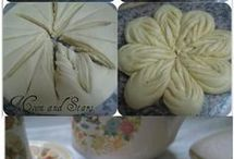 дрождевой хлеб цветок