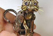 Watch Parts Into Incredibly Detailed Steampunk Sculptures