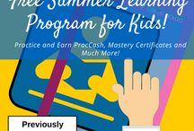 Summer Fun~Learning / Leaning never takes a break. Not even a summer break. Follow the board to help your child avoid the summer slide, and find fun ways to learn.