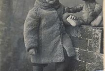 Retro photo with teddy bears