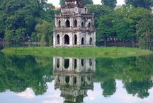 Hanoi / Hoan Kiem lake is one of famous landscapes of Hanoi. It is located in the center of Hanoi.