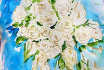 Wedding Bouquet paintings / Getting Married? Get your wedding bouquet painted by international artist Andrea de Kerpely-Zak