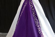 Wedding dresses - purple