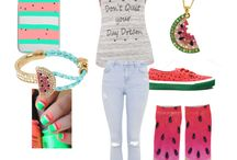 #Fashion  / Watermelon n' stuff