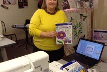 Pe-Design with Tricia embroidery software classes at Grain Sewing / Brother embroidery software classes