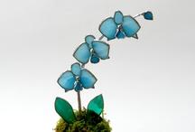 Tyfani bloemen / Om zelf te maken voor mijn ramen